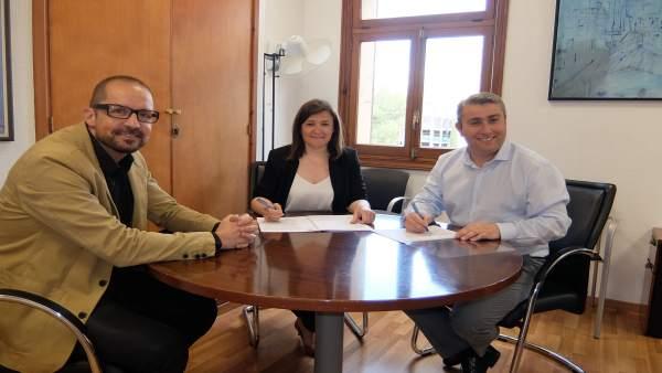 Firma de la adhesión de Inca a la ADT