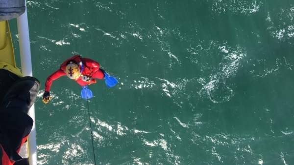 Rescate cadaver en el mar