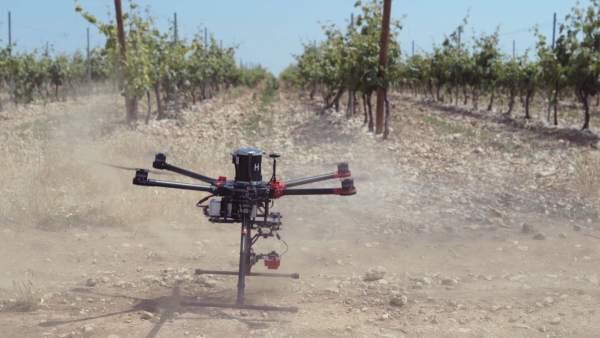 Dron de uso agrario