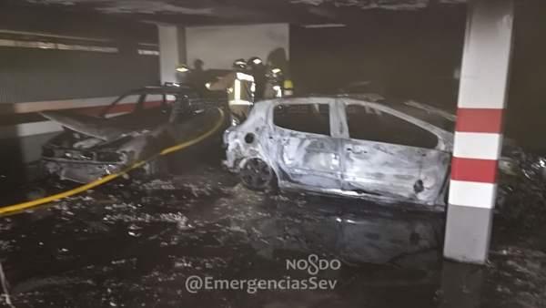 Incendio en un garaje de la avenida de Andalucía