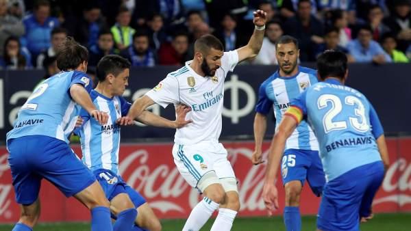Karim Benzema contra el Málaga