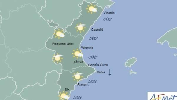 Cels poc nuvolosos i temperatures en ascens aquest dimarts a la Comunitat Valenciana