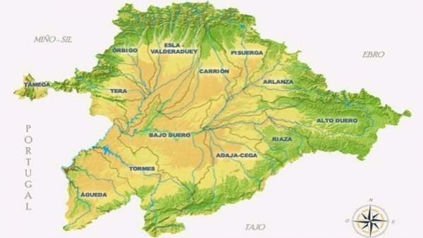 Cuadro descriptivo de la situación de los ríos en CyL