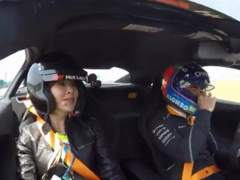 Fernando Alonso en las 'hot laps'