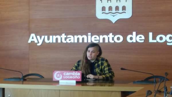 Marina Blanco, concejala de 'Cambia Logroño'