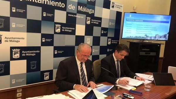 El Ayuntamiento de Málaga en la presentación de los presupuestos