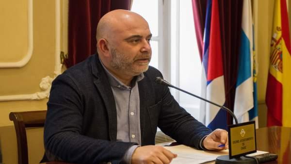 David Navarro, concejal de Hacienda del Ayuntamiento de Cádiz