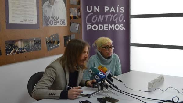 Pablo Fernández durante la rueda de prensa en Zamora