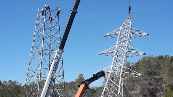 Construcción de una nueva línea de Endesa en el Baix Penedès