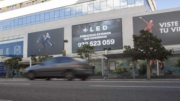 Segunda pantalla publicitaria más grande de Canarias