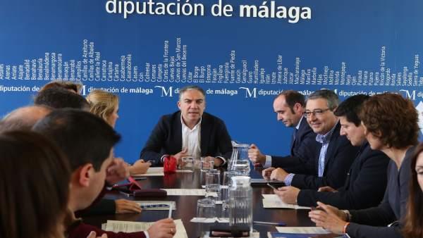 Reunión junta de gobierno de la Diputación de Málaga