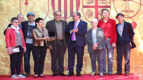 El presidente del Gobierno de Aragón, Javier Lambán, en Huesca.