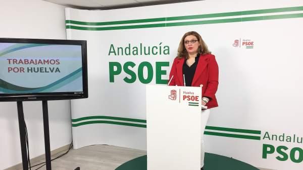 Syra Senra, La secretaria del sector del Mueble y Calzado del PSOE de Huelva.