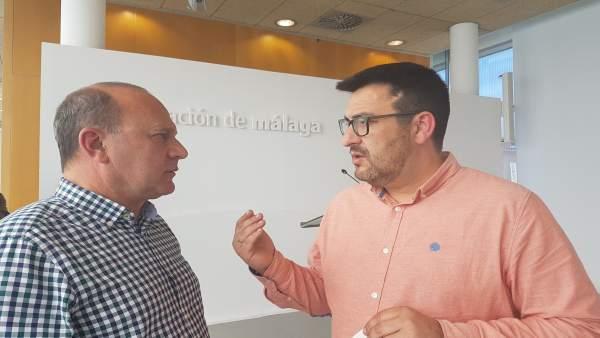 Guzmán Ahumada portavoz IU con Dámaso Márquez en Diputación