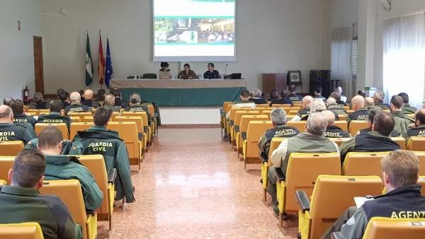 Cuerpos de seguridad en una sesión sobre el uso ilegal de cebos envenenados