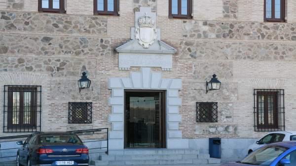 Edificio, Antiguo, Cortes, Puerta