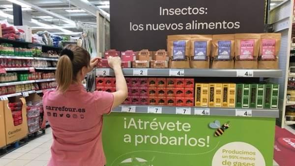 Carrefour pone a la venta alimentos elaborados con insectos