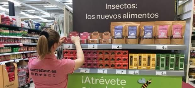 Carrfour pone a la venta alimentos elaborados con insectos