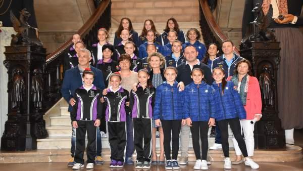 Presentación de la Liga Iberdrola de gimnasia artística femenina