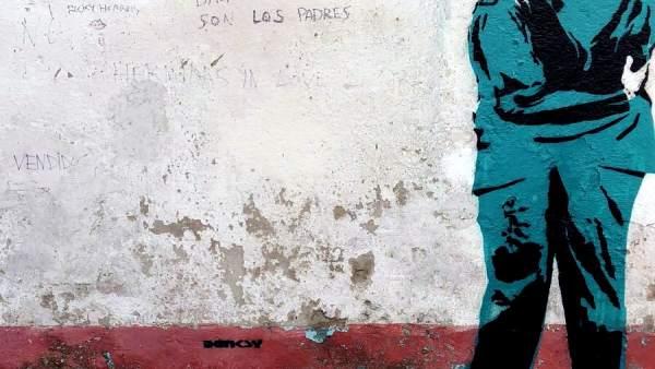 Aparece en el barrio ferrolano de Canido una obra firmada como Banksy