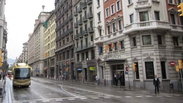 Via Laietana de Barcelona.