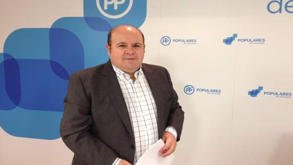 El portavoz del PP en la Diputación, José Robles.