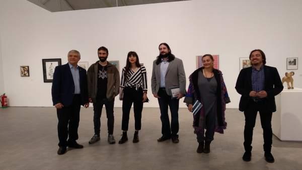 Inauguración de la exposición de Aspanoa en el IAACC Pablo Serrano de Zaragoza