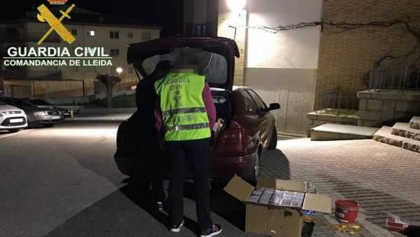 La Guardia Civil ha intervenido tabaco de contrabando