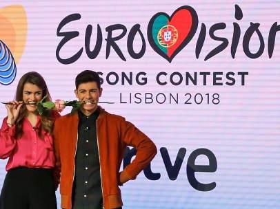 Los representantes de España en Eurovisión 2018, Amaia y Alfred.