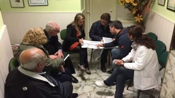 Reunión para las obras de Emasesa
