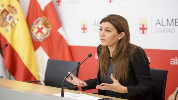 La concejal Carolina Lafita, en rueda de prensa
