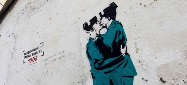 Supuesta obra de Banksy en Ferrol