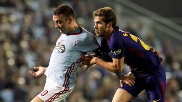Iago Aspas, en un Celta - Barça.