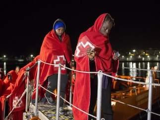 Inmigrantes rescatados
