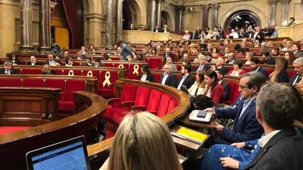 El Pleno del Parlament de Catalunya.