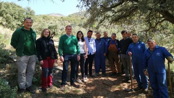 El delegado de Medio Ambiente visita los equipamientos de Laujar de Andarax