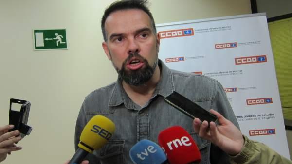 El secretario general de CCOO de Asturias, José Manuel Zapico