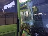 Colisión entre dos autobuses interurbanos