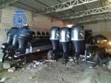 Lanchas intervenidas en una operación de narcotráfico