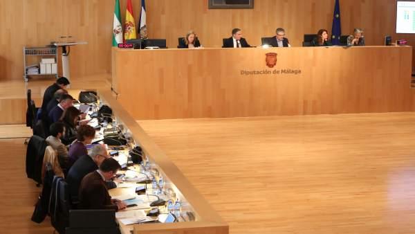 Vista Pleno de marzo de 2018 diputación de Málaga