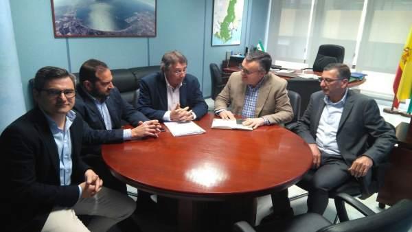 Reunión de empresarios del transporte con Ángel Gavino