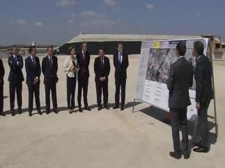 Rajoy, Cospedal y de la Serna visitan las obras de la Autovia A-32