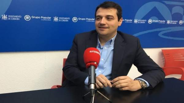 El candidato del PP a la Alcaldía de Córdoba, José María Bellido