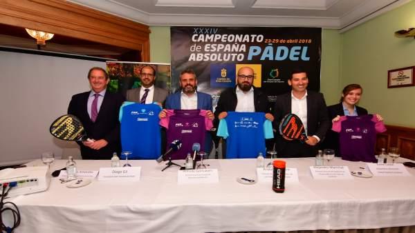 Presentación del Campeonato de España absoluto por parejas