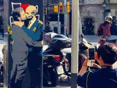 El beso de Guardiola y Mourinho.