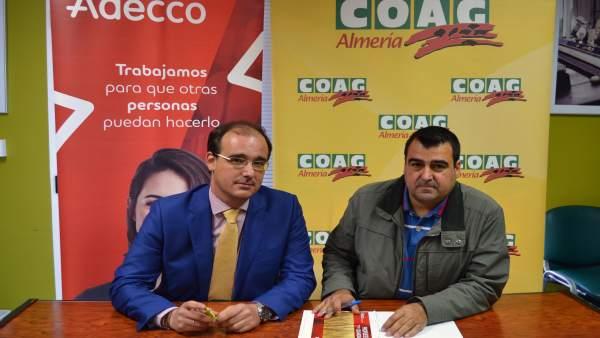 Eduardo Hierro (Adecco) y Andrés Góngora (COAG)