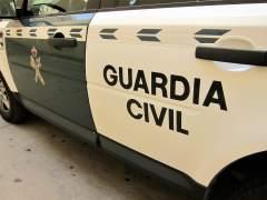 Uno de los coches de la Guardia Civil.