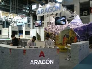 Stand de Aragón en la Feria B-Travel de Barcelona