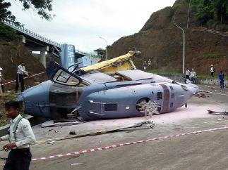 Trágico accidente de helicóptero