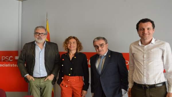 Félix Lararosa, Meritxell Batet, Àngel Ros y Óscar Ordeig (PSC)